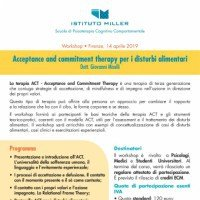 Acceptance and Commitment Therapy per i disturbi alimentari