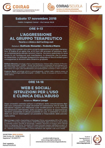 L'aggressione al Gruppo terapeutico - Teoria e clinica dell'acting-out